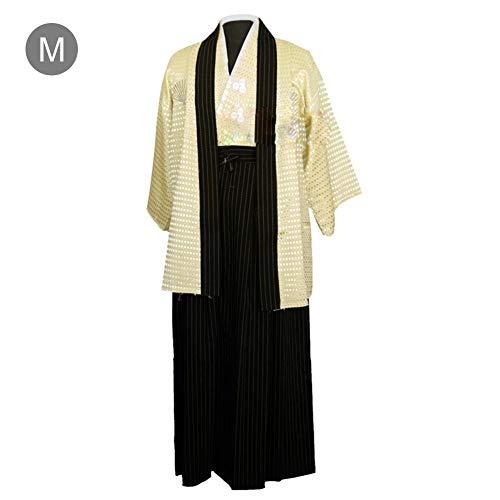 Kimono der Männer, Gestickte Bühnenkostüme der Männer, Junge traditionelle Samurai-Krieger-Robe, Outfit, Baumwoll-Leinen-Foto-Kleidung für alle Gelegenheiten ()