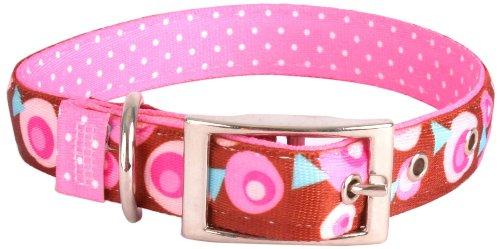 Yellow Dog Design Uptown Hundehalsband, Größe XL, Metro Pink/Braun auf Rosa/Rosa gepunktet