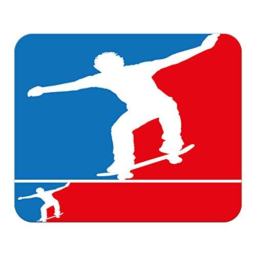 Gaming Mauspad mit Fotodruck Mousepad 220 x 180 mm Rutschfest Schwarz Fransenfreier Rand Präzision Retro Skateboard bedruckt (Skateboard-spiele Für Pc)