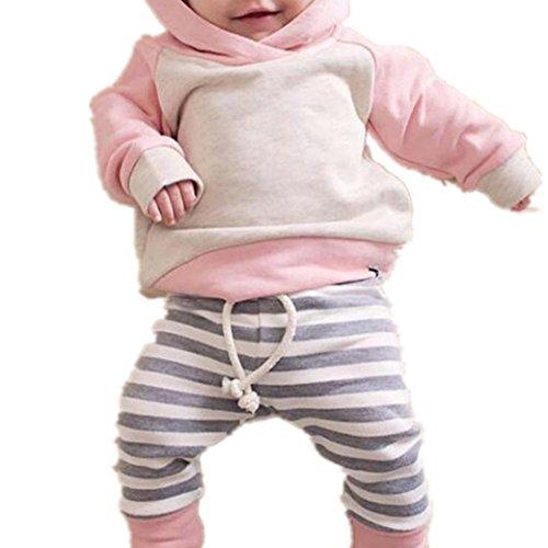 Bekleidung Longra Kleinkind Baby Mädchen Kleidung Set mit Kapuze Sweatshirts Hoodie Langarmshirts Tops + Lang Hosen + Stirnband Outfits Babymode Babybekleidung(0-24Monate) (100CM 24Monate, (Ideen Partei C Kostüme)