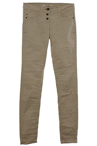 Tom Tailor Hose Boyfriend Relaxed Pants Gabardine Stretch Damen Beige