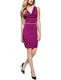 ESPRIT Collection Damen Kleid mit Wasserfalloptik, Knielang