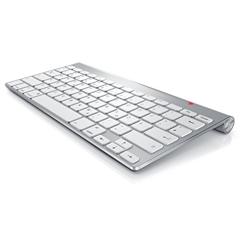 CSL - Wireless Slim Tastatur kabelloses Funk Keyboard 2,4G | Lightweight Design | Multimedia Keys | QWERTZ-Layout Apple Tastaturlayout | kompatibel mit Apple und PC