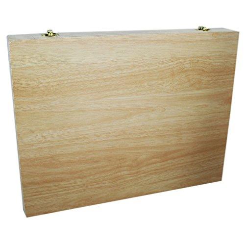 75 Piece Wooden Case Stationery Set