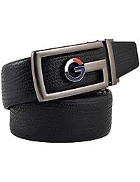 LLLM Cinturones Cinturones De Cuero para Hombres De Negocios para Hombres  Hebilla De Metal Hombre Jeans Cinturón De Cuero Correa… 5c8cee900f09