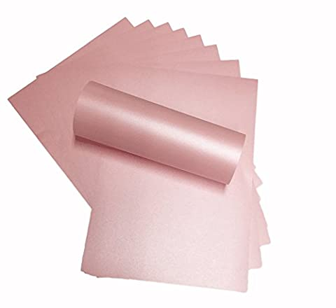 20 x A4 Petals Pink Double Sided Pearl Peregrina Majestic Pearlescent Paper 120gsm Suitable for Inkjet and Laser Printers by Syntego