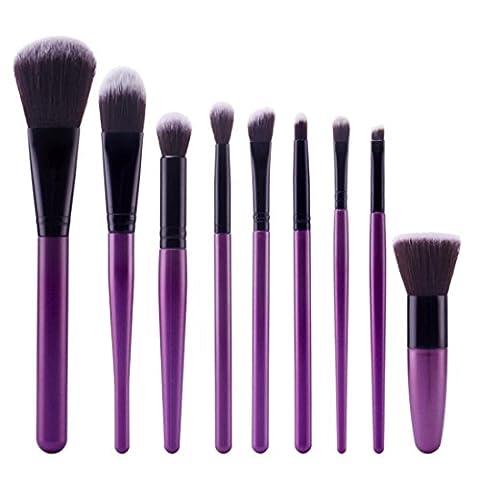 Beauté Top 9pcs Cosmétique Brosse Maquillage Brosse Définit Kits outils