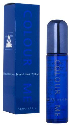 Couleur Me Bleu Eau de Toilette en flacon Vaporisateur pour homme 50 ml
