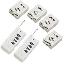 emylo® AC 100–240V, 2500W, 4x 1canal RF Wireless Relé Interruptor de control remoto transmisor con receptor