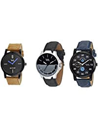 Watch Me Gift Combo Set For Him/Watches For Men/Watches For Boys (watches 3 Combo/watches 2 Combo) WMC-002-BR-AWC...