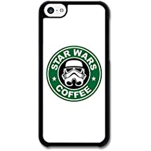 Star Wars Coffee Darth Vader Funny Logo carcasa de iPhone 5C
