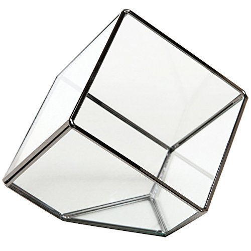 MyGift Modern Artistic Clear Glass Cube Box Glass Plant Terrarium / Decorative Votive Candle, Tea Light Holder