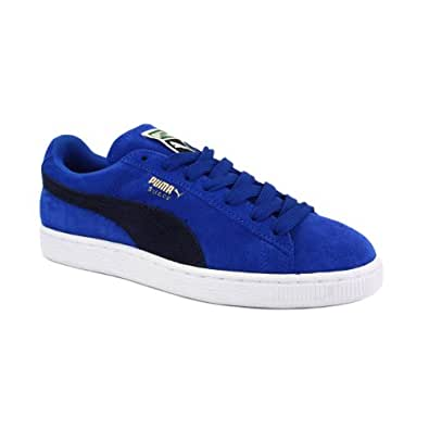 Puma Suede Classic 355462 04 Womens Laced Suede Trainers Blue Navy - 4