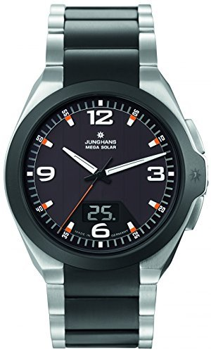 Junghans Herrenuhr Metallband analog-digital Funkuhr Titan 018/1425.44