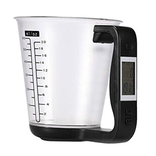1 Stück Digital Tasse Skala Elektronische Küche Messbecher Mit Lcd Display Flüssigkeit Messen Tasse Krug Haushaltswaagen Küche Werkzeuge-Schwarz