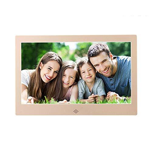 JIAO DE Elektronischer Foto-Rahmen 10 Zoll-Digital-Werbungs-Maschinen-LED Audio und Video-Player können Tischplatten-Wand-Berg Sein (Color : A) -