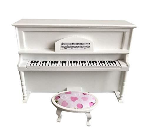 Koojawind Aufrechte Klavier Puppenhaus Miniatur Schlafzimmer Dekor MöBel, 1/12 Mini Puppenhaus Pretend Play Kinder Spielzeug ZufäLlige Farbe