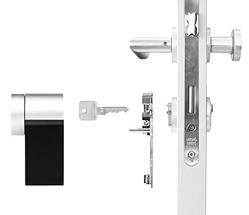 nuki combo smart lock und bridge elektronisches bluetooth t rschloss automatischer. Black Bedroom Furniture Sets. Home Design Ideas