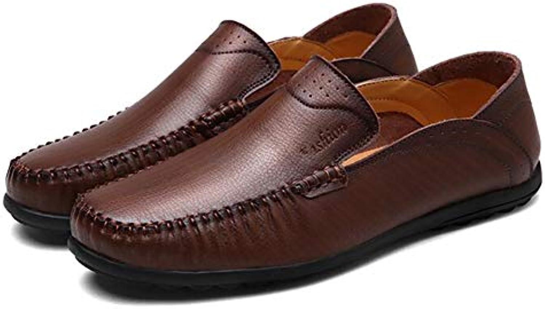Nuevos Zapatos de Cuero Zapatos de Guisantes Tendencia de los Hombres Zapatos Casuales Zapatos Ocasionales de...