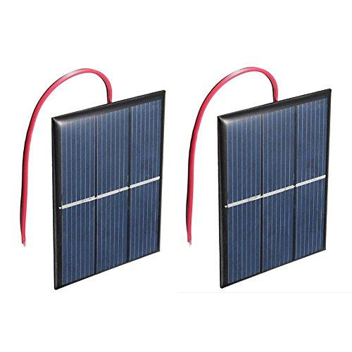 TOOGOO 2 Stück 1,5V 400Ma 80X60Mm Micro- Power Solarzellen Für Sonnenkollektoren -DIY Projekte -Spielzeug -Ladeger?t Power-solarzellen