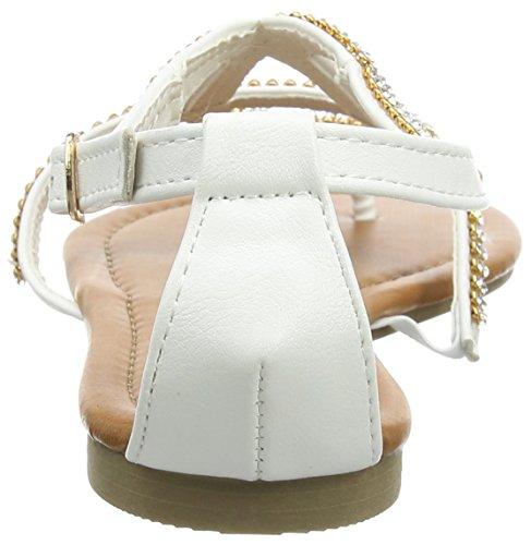 Supremo - Damenschuhe, Tongs Femme Blanc (blanc)