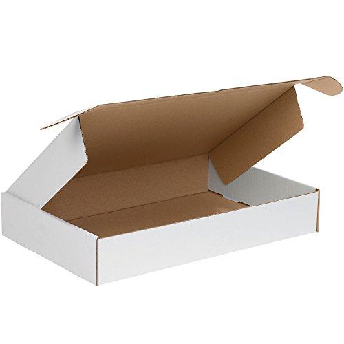 aviditi mfl18123Wellpappe Deluxe Literatur Versandbox, 45,7cm Länge x 30,5cm Breite x 7,6cm Höhe, Oyster Weiß (Bundle Of 25)