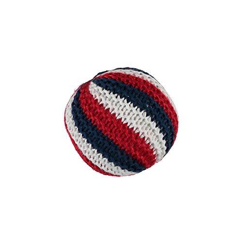 Baker & Bray Knitted Ball Hundespielzeug mit quietschelement, Marineblau/Rot