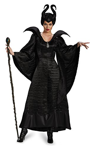 Disney Maleficent Deluxe Christening Schwarz Gown Erwachsene Kostüm (Medium)