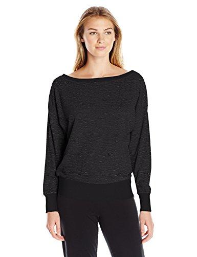 2(x)ist Damen Sweatshirt French Terry Boat Neck - Schwarz - Small -