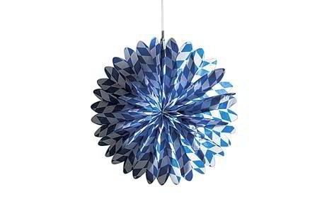 Kogler Papier Bayern Flammschutzmittel Fan in Tasche, Blau/Weiß, 46cm, blau/weiß, 46 cm