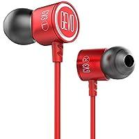 Gevo Audio Sport-Fi GV2isolamento acustico cuffie auricolari con microfono, funzione vivavoce, Secure Fit per corsa, Jogging, palestra, esercizio, e in Ear auricolari per iPhone iPod iPad computer Mac e Android