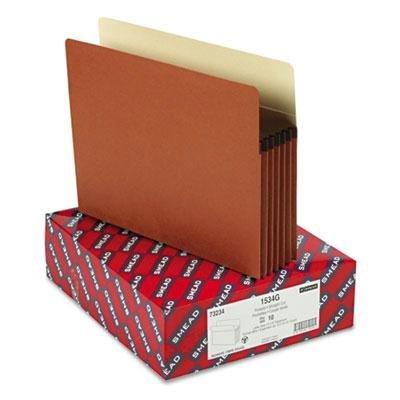 SMEAD-51/10,2cm Akkordeon Expansion Pocket gerade Tab Brief Manila/Redrope 10/Box