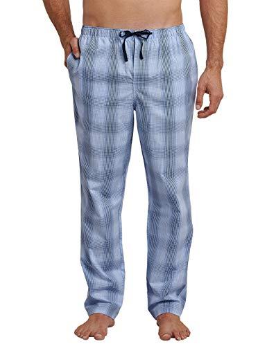 Schiesser Herren Mix and Relax Hose Lang Schlafanzughose, Blau (Hellblau 805), X-Large (Herstellergröße: 054) -