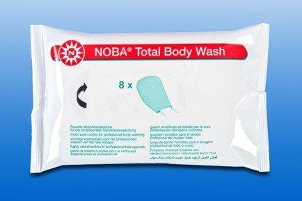 Noba Total Body Wash Feuchte Einmal-Waschhandschuhe ohne Alkohol (10 Packungen (80 Tücher))