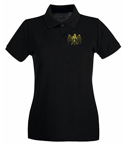 T-Shirtshock - Polo pour femme FUN0074 04 07 2012 Spider Bat T SHIRT det Noir