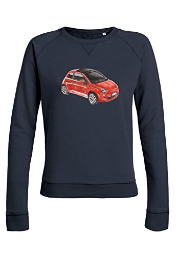 ul12 Sweat pour femmes Trips Fiat 500 in Red Navy