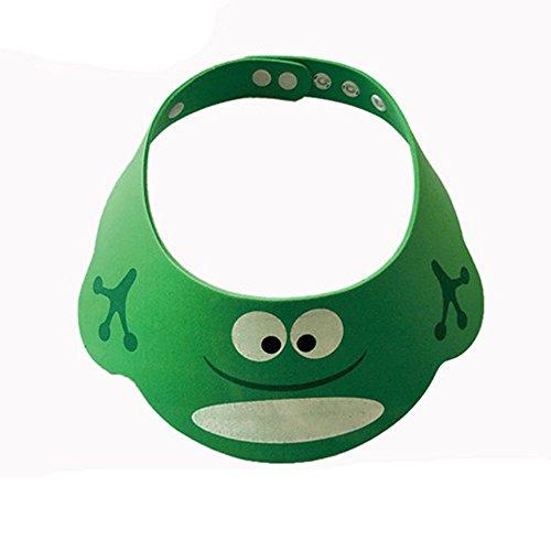 Luniquz Baby Shampoo Schutz Baby Duschhaube verstellbare Duschkappe Badekappe Ohrschutz Mütze - Frosch