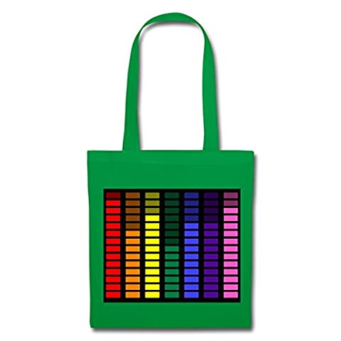 Rainbow Equalizer Tote Bag by Spreadshirt®, One size, kelly green