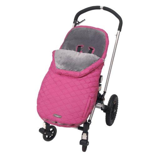 JJ Cole JU-YBBM/U-YBBM - Bundleme Urban Fußsack für den Kinderwagen/Autositz, wind- und wetterfest - pink, sassy - 1 bis 3 Jahre