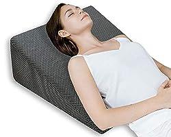 QUEEN ROSE Keilkissen, Lesekissen - Lindert Rückenschmerzen, Schnarchen, Sauren Reflux und Atemwegserkrankungen - Ideal für Schlafen, Lesen und Ruhehöhe - mit Bbnehmbarem Bezug