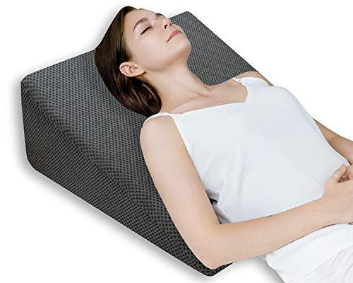 QUEEN ROSE Almohada terapéutica para la cama | Con espuma de memoria y funda lavable,...