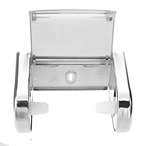 SunnyGod Lebensnotwendige tägliche Geräte Wandhalterung Toilettenpapierhalter aus Edelstahl poliertem Stahl Tissue Holder (Silber)