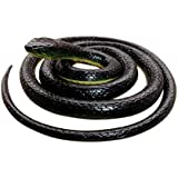 Realistic Rubber Black Mamba Snake 52 Inch Long