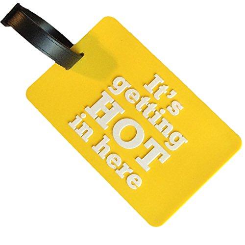 feranhänger Namensschild Gepäckanhänger Kofferschild Gelb 10,5x6,5cm groß 1 Anhänger LS-LebenStil (Kofferanhänger Gelb)