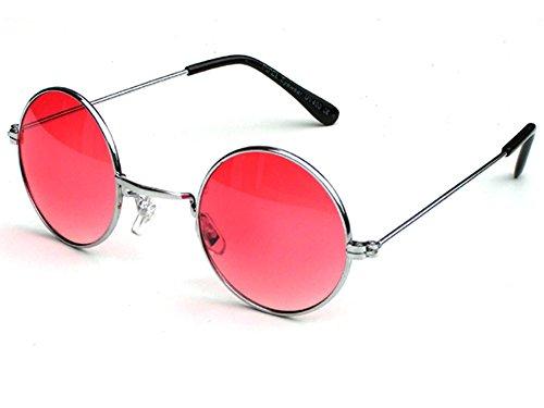 Tedd Haze 60's John Lennon Brille Red Star mit Brillen Beutel (Red Star Sonnenbrille)