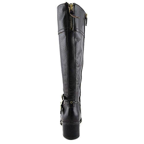 Franco Sarto Lapis Wide Calf Damen Rund Leder Mode-Knie hoch Stiefel OX Brn