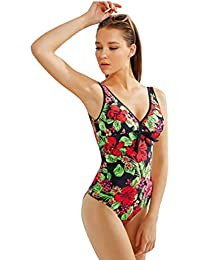 Maillot de Bain Femme 1 Pièce Monokini - Grande Taille