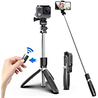 Smashtronics® - 4 in 1 Wireless Selfie Stick with Bluetooth Remote and Mobile Tripod for All Smart Phones, GoPro and…