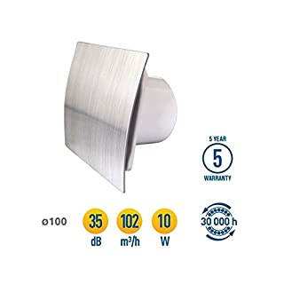 Bathroom Kitchen Toilet Wall Air Ventilation Extractor Fan with Timer 4