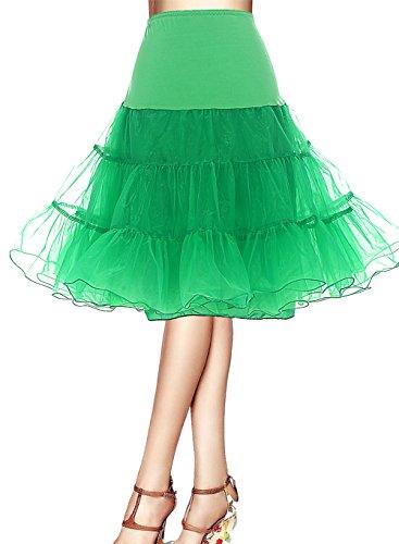 Bbonlinedress Organza 50s Vintage Rockabilly Petticoat Underskirt Green M (Kleid Pink, Grün,)